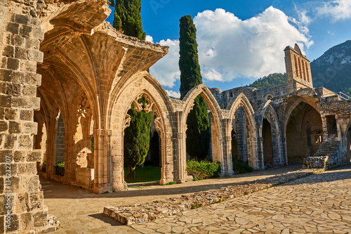Fotobehang Cyprus Bellapais Abbey in Kyrenia, Northern Cyprus