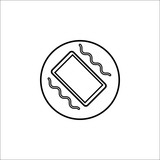 Phone vibration line icon, mobile sign and smartphone, vector graphics, a linear pattern on a white background, eps 10.