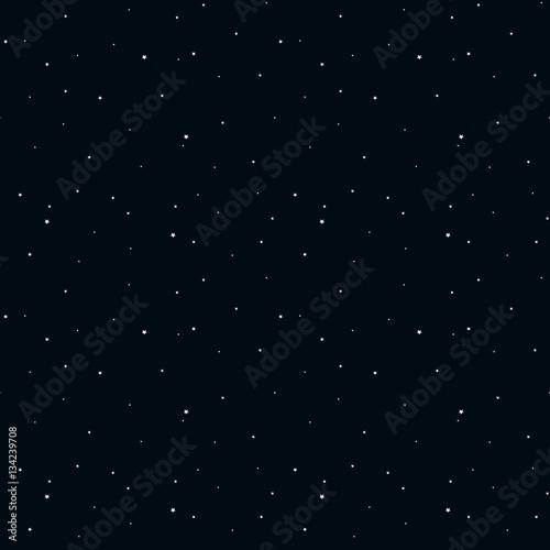 night cosmos dark blue sky stars black seamless pattern vector