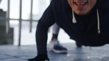 4K Athlete being trained by his coach, in slow motion