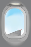 View from plane window vector