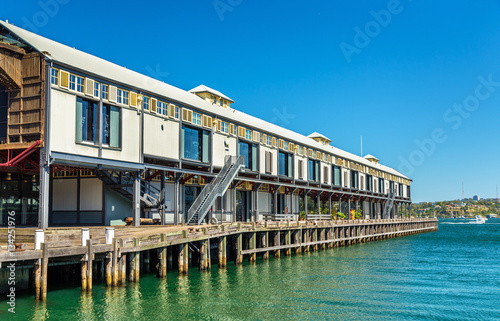 Poster Warehouse offices on the waterfront of Dawes Point in Sydney