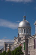 Marché Bonsecours (Bonsecours Market) with seagulls circling the silver dome.  Old Montreal, Montreal, Quebec, Canada.