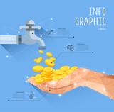 finance Polygon Info Graphic Illustration