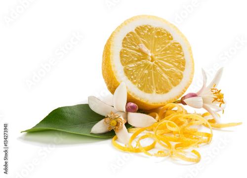 Poster Lemon, blossom and zest.