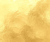 luxury gold background with marbled crinkled foil texture, old elegant yellow paper with textured creases - 134277999