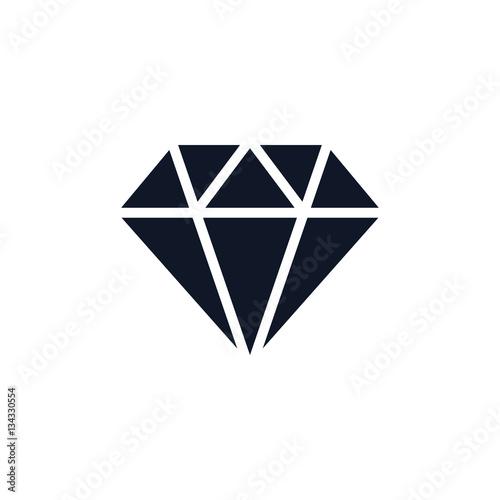 Diamentowa Ikona Ilustracja Odizolowywał Wektorowego Szyldowego symbol