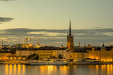 Stockholm skyline during sunset, Sweden