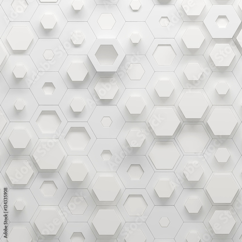Parametric hexagonal pattern, 3d illustration - 134335908