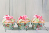 Pastel colored cupcakes - 134338749