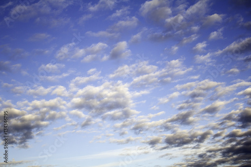 Blue sky with clouds Poster