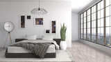 Bedroom interior. 3d...