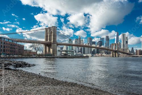 poster quadro pont de brooklyn new york su. Black Bedroom Furniture Sets. Home Design Ideas