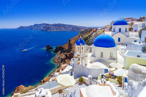 Deurstickers Santorini Beautiful Oia town on Santorini island, Greece