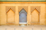 Moroccan style fountain with colorful mosaic tiles