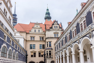 Langer Gang (long corridor, 16th century) in Dresden, Germany.