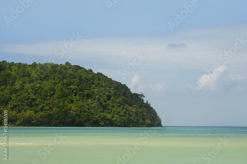 Poster amazing beautiful landscape view of Koh Phi Phi island in Thailand Krabi provinc