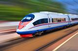 Nowoczesny pociąg z dużą prędkością