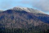 Krajobraz Bieszczadów zimą