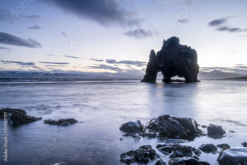 Dinosaur Rock Beach in Iceland Poster