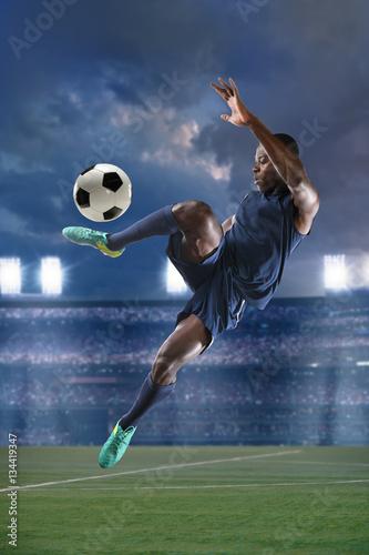Aluminium Voetbal African American Soccer Player