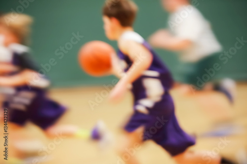 Youth Basketball motion blur