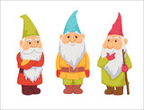 Gnomes vector set
