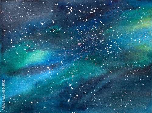 Galaxy/Universe Watercolor Illustration