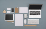 Top view corporate identity design template - 134454509