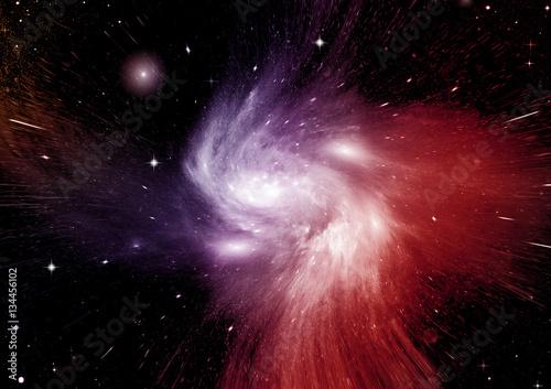 Stars, dust and gas nebula in a far galaxy © Zhanna Ocheret