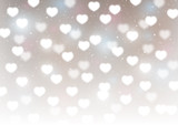 Hearts bokeh background for Your design