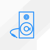 Studio music speaker minimalistic vector icon for web design and mobile application user interface