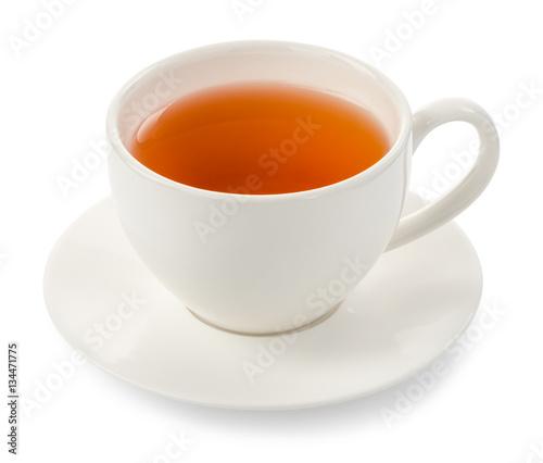 Fototapeta cup of tea on white background