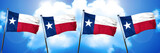 texas flag, 3D rendering, on a cloud background