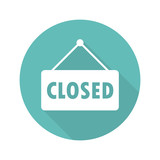 Closed sign flat icon vector - 134478746