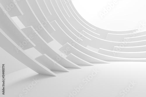 Staande foto Abstract wave Modern Geometric Wallpaper