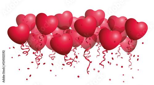 Ballons rot herzförmig Hintergrund