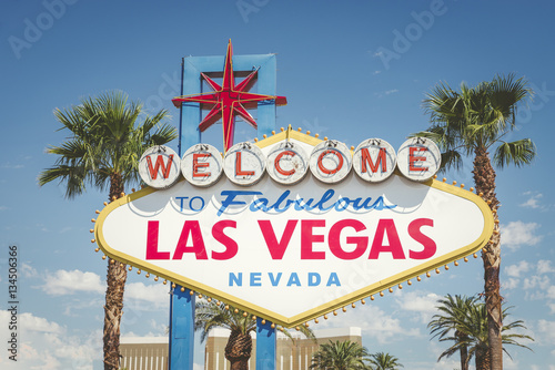 Plexiglas Las Vegas Welcome to Las Vegas neon sign