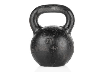 Heavy kettlebell isolated on white background © unclepodger
