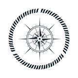 compass maritime emblem icon vector illustration design
