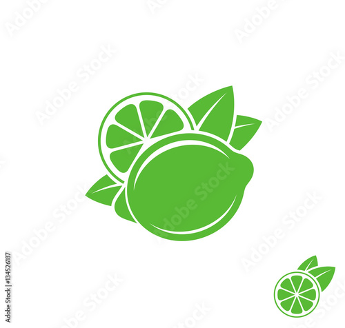 Lime. Tropical fruit on white background - 134526187