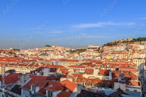 Poster Vista da parte central da Lisboa de Santa Justa