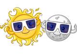 Mascot Sun Moon Solar Eclipse Glasses - 134549744