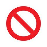 No sign icon vector transparent - 134551591