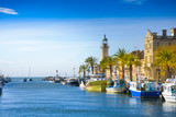 Grau du Roi city and harbor during a sunny day in France - 134552991