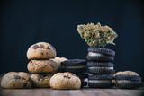 Cannabis nug over infused chocolate chips cookies - medical mari