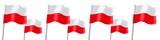 Fototapety Banner. Flags. Poland