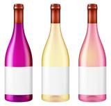 Bottle of wine. Vector illustration.