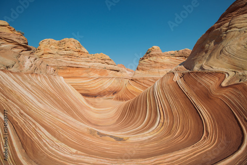 Poster Arizona Arizona Wave - Famous Geology rock formation in Pariah Canyon, b