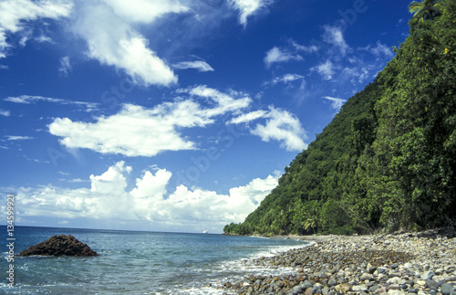 Foto op Canvas Fantasie Landschap Champagne beach, Dominica